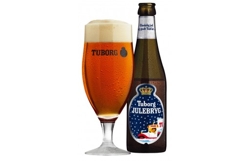 Tuborg Julebryg 33 cl bottle + glass